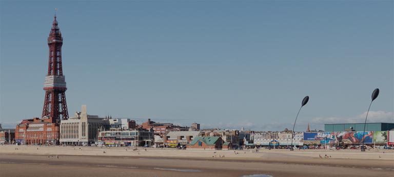 Blackpool Tower and beach.